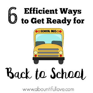 Getting Ready for back to school- tips and organization