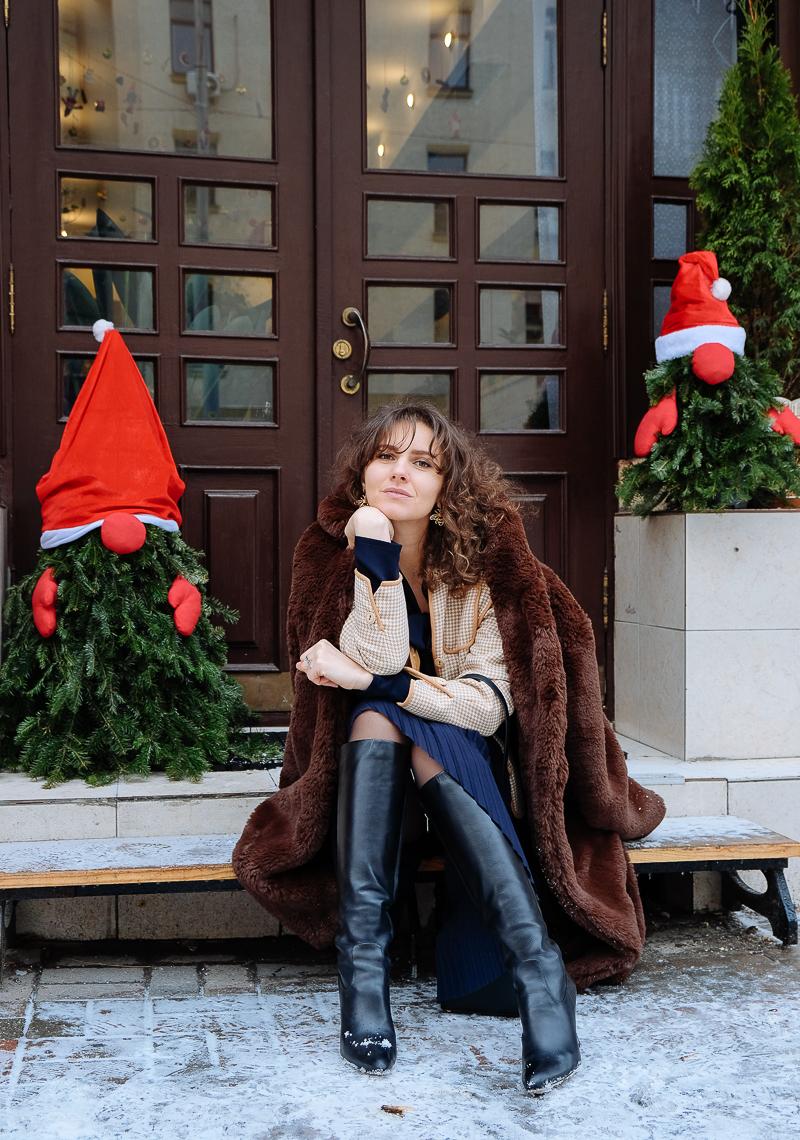 стильный зимний лук