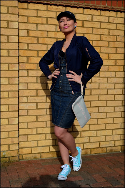 Denim Dress & Navy Bomber ***Do What You Want