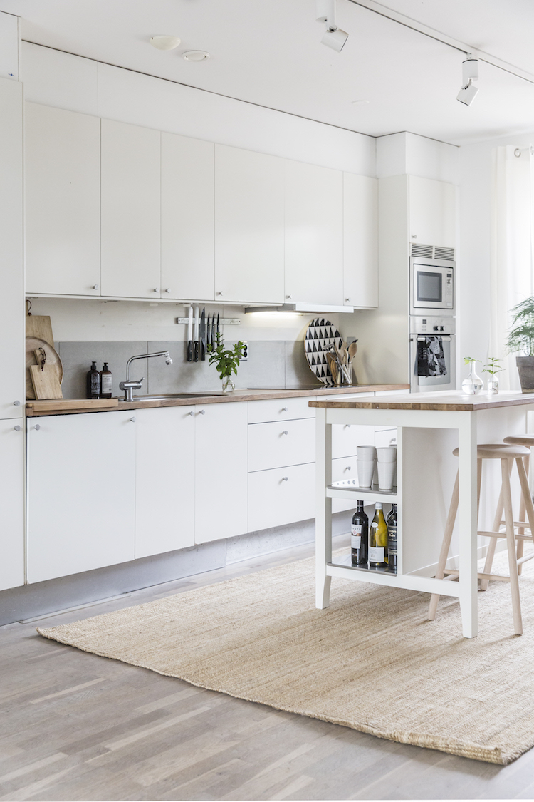 Although The Cabinets In My Kitchen Are Made By Swedish Brand Marbodal Ikea Stenstorp Island And Lohals Rug Take Centre Stage