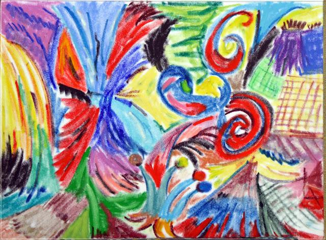 Art de vivre la peinture de peintrefiguratif abstrait formes et couleurs au pastel gras for Peinture pastel gras