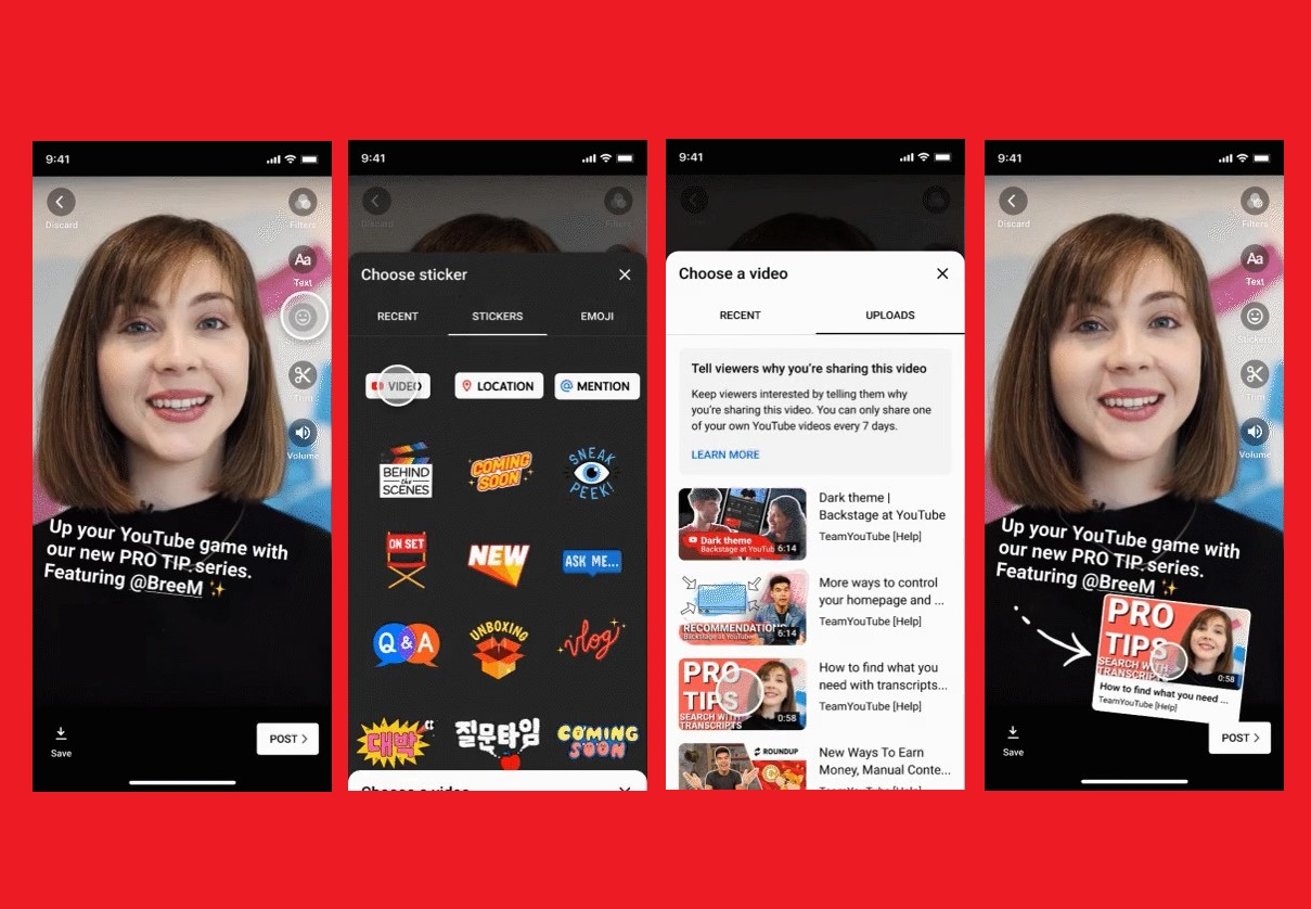 Creators – New sticker on Stories lets viewers add videos to their Watch Later playlist