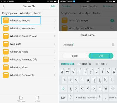 Cara Menyembunyikan Image WhatsApp di Android