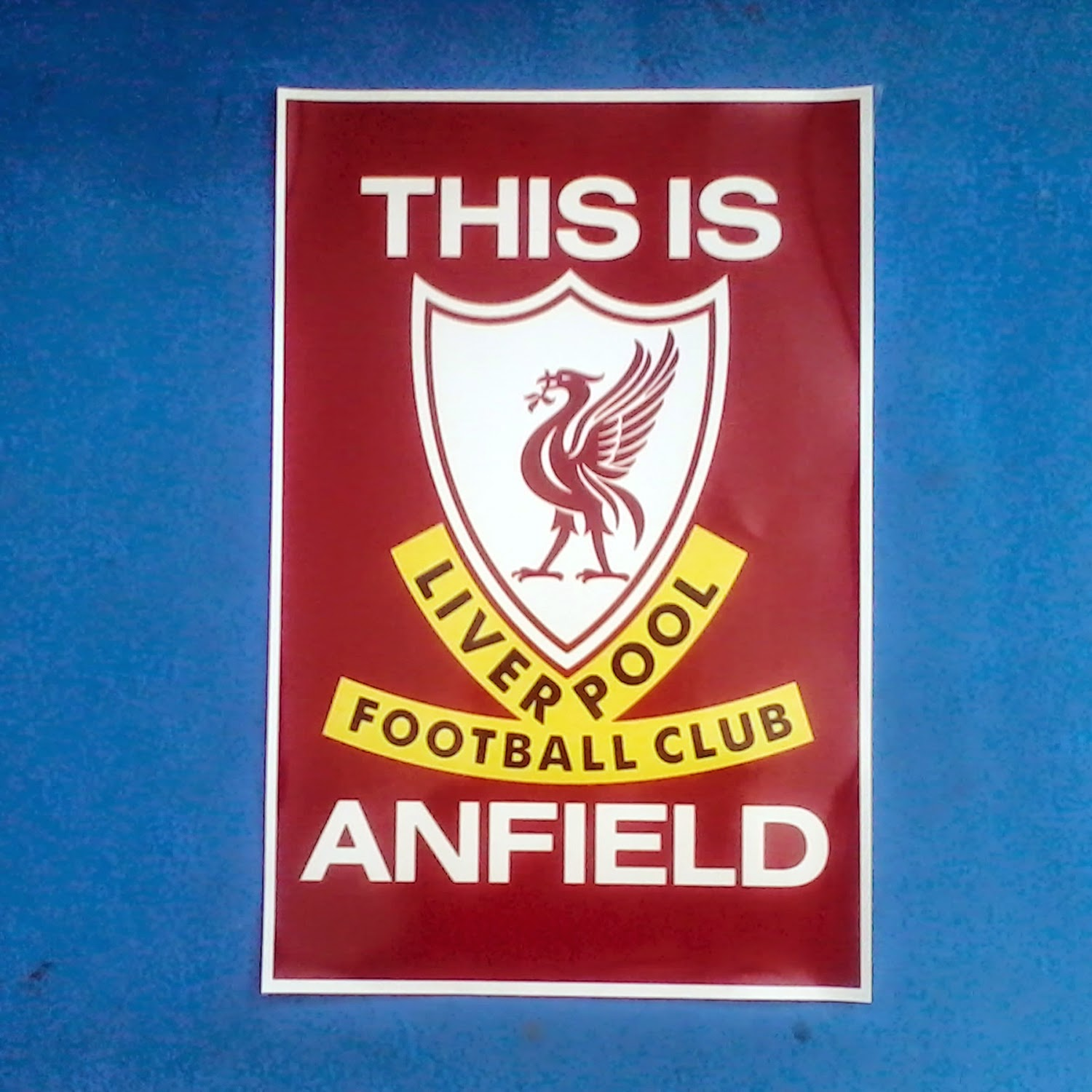 jual Poster A3 Football Club Liver Pool Anfield murah