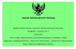 Perka BKN No 7 Tahun 2017 Turunan PP Manajemen PNS