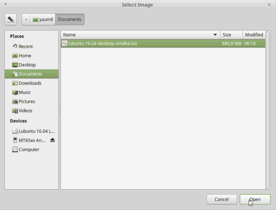 how to create bootable iso linux mint