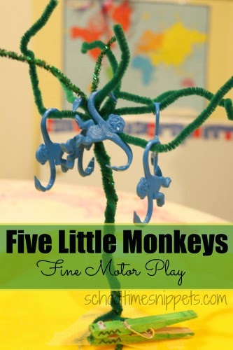 five little monkeys fine motor rhyme