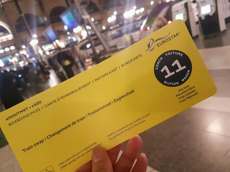 工作人員給予的歐洲之星替代車票