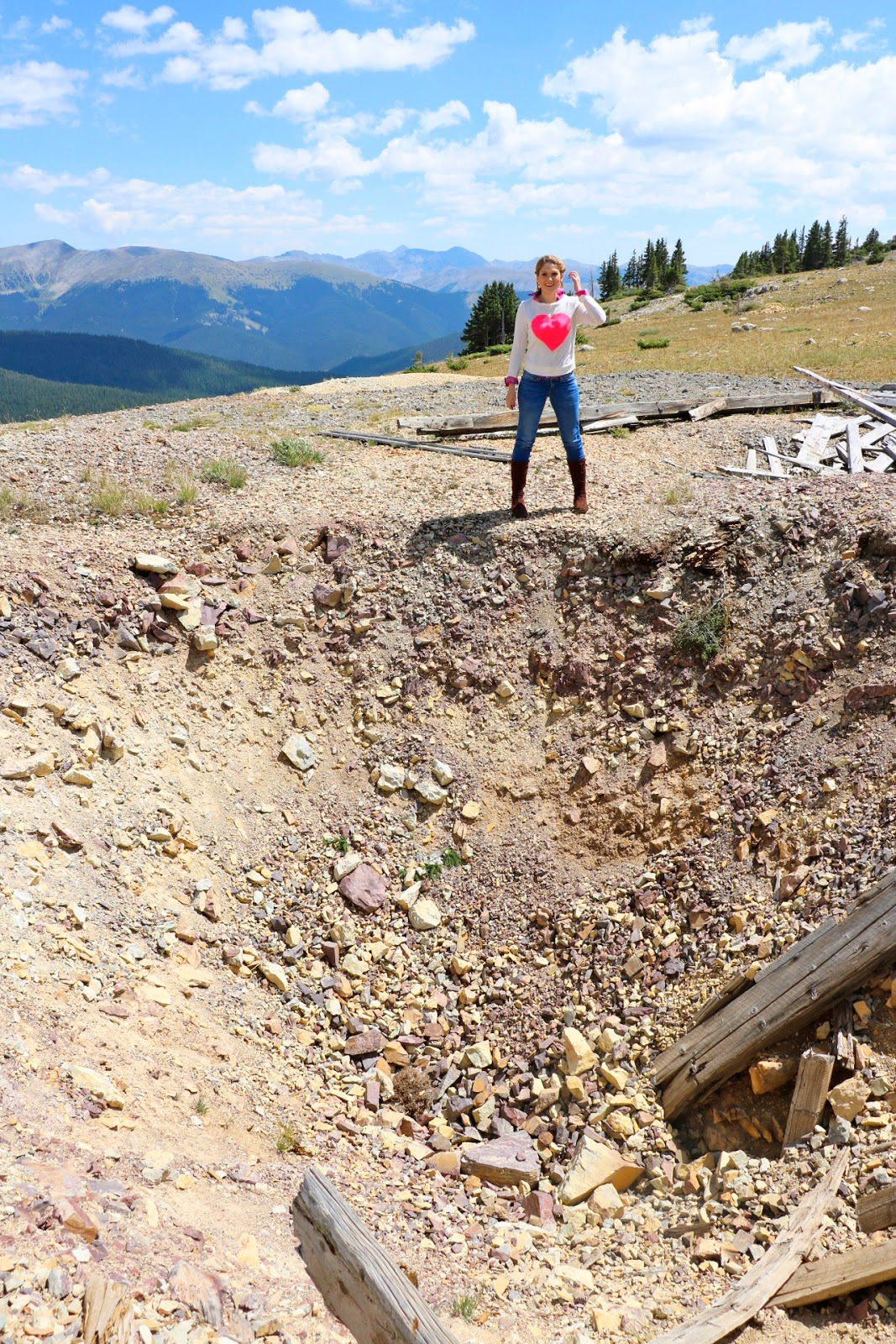 Mines at the top of Fairview Peak, Colorado