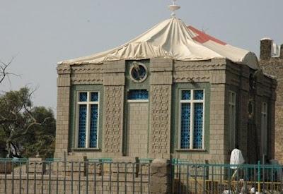 Capilla del Arca de la Alianza en Aksum, Etiopía