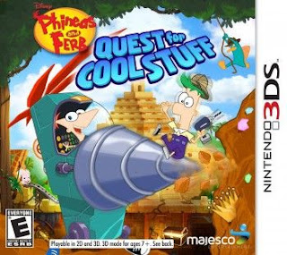 Phineas And Ferb Quest For Cool Stuff, 3DS, Español, Mega, Mediafire