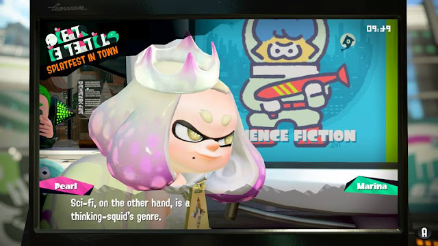 Splatoon 2 Splatfest Pearl science fiction sci-fi is a thinking-squid's genre