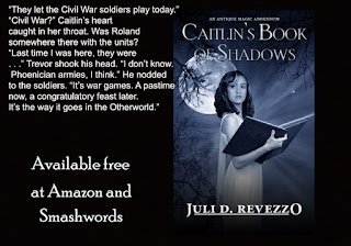 Caitlin's Book of Shadows, Juli D. Revezzo, Antique Magic series, Pagan paranormal fiction, witch paranormal fiction, Free on Amazon