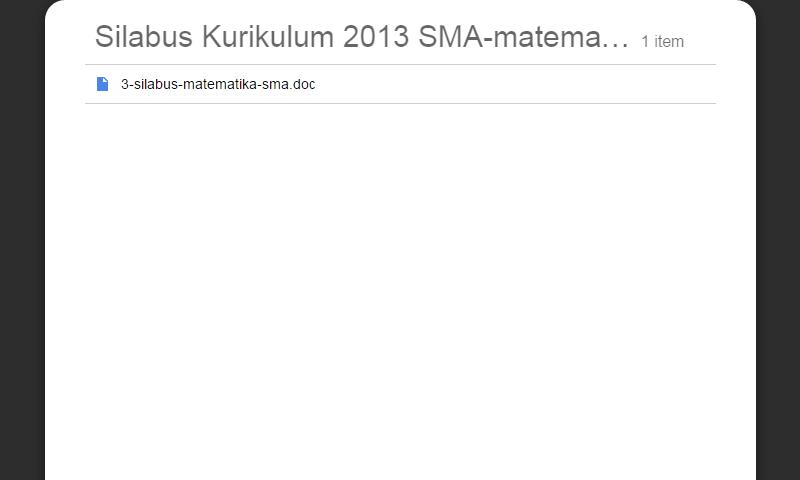 New Revisi Silabus Kurikulum 2013 SMA Kelas 11 sampai 12 MapelMatematikA SMA Lengkap Terbaru
