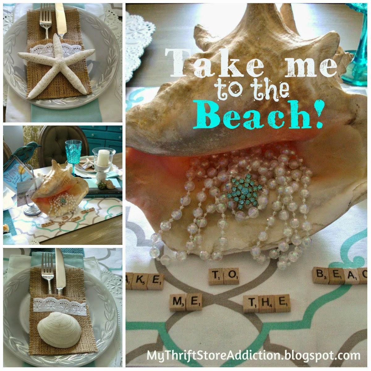 Take me to the beach coastal tablescape
