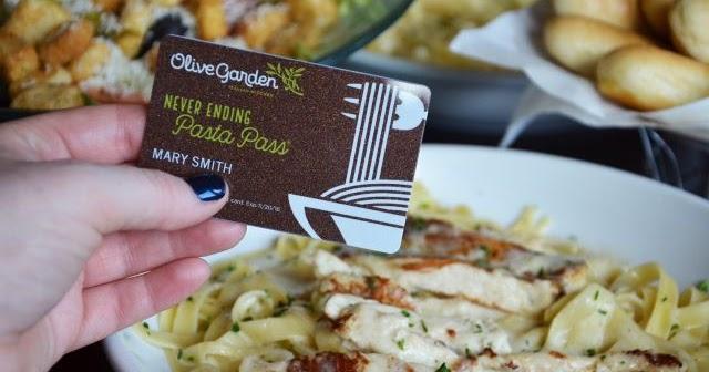 Olive Garden Selling New Ending Pasta Passes For One Hour On September 15 2016 Brand Eating