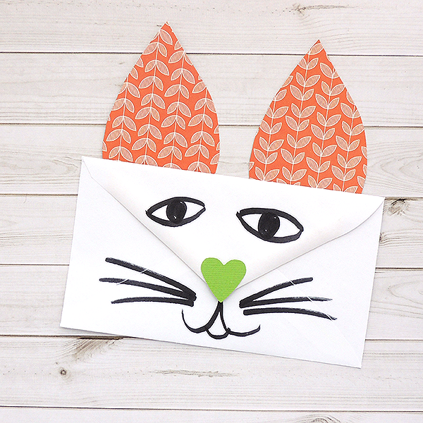 DIY Animal Valentines using punches + envelopes