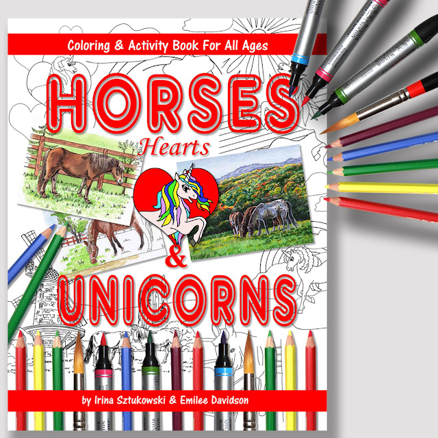 Horses Hearts And Unicorns Coloring And Activity Book