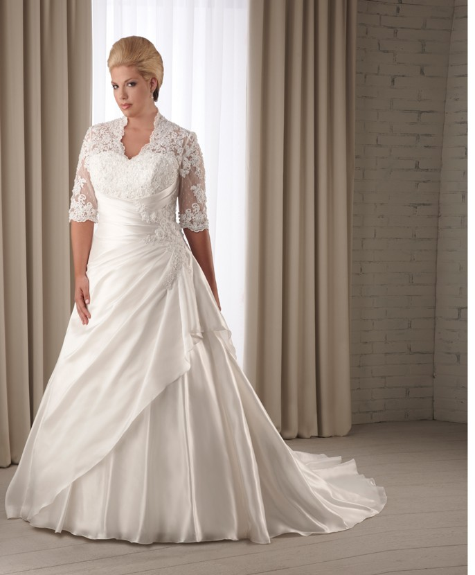 Stunning Ideas Of Informal Plus Size Wedding Dresses Gowns
