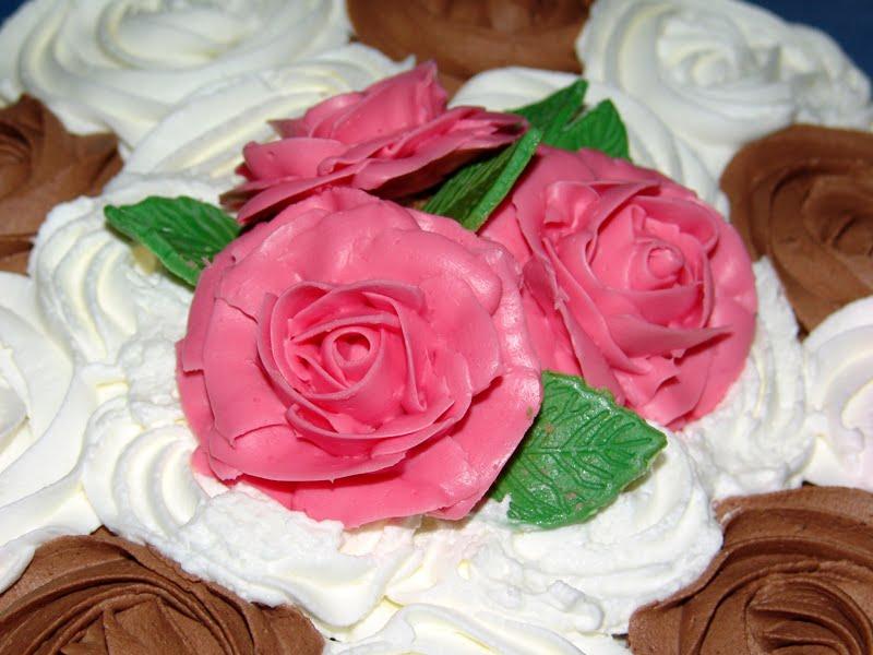 Los Dulces De Ana Tarta De Rosas Para Mi Prima