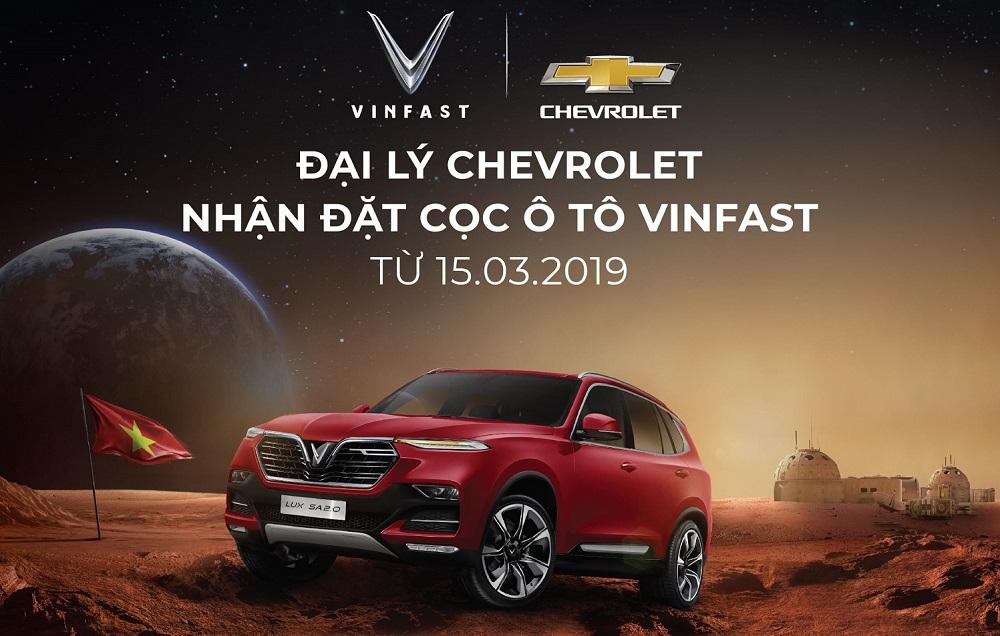 Đại lý Chevrolet bắt đầu nhận đặt hàng ô tô VinFast
