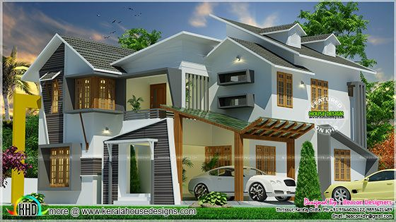 Ultra modern home with dormer windows