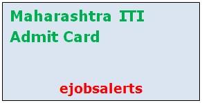 Maharashtra ITI Admit Card 2017