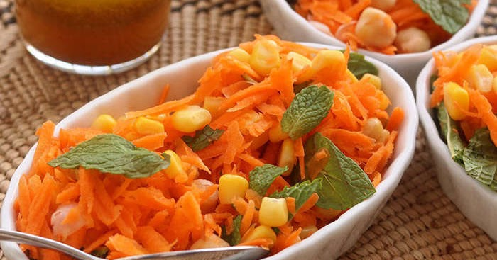 Moroccan Carrot & Chickpeas Salad Recipe - LEBANESE RECIPES