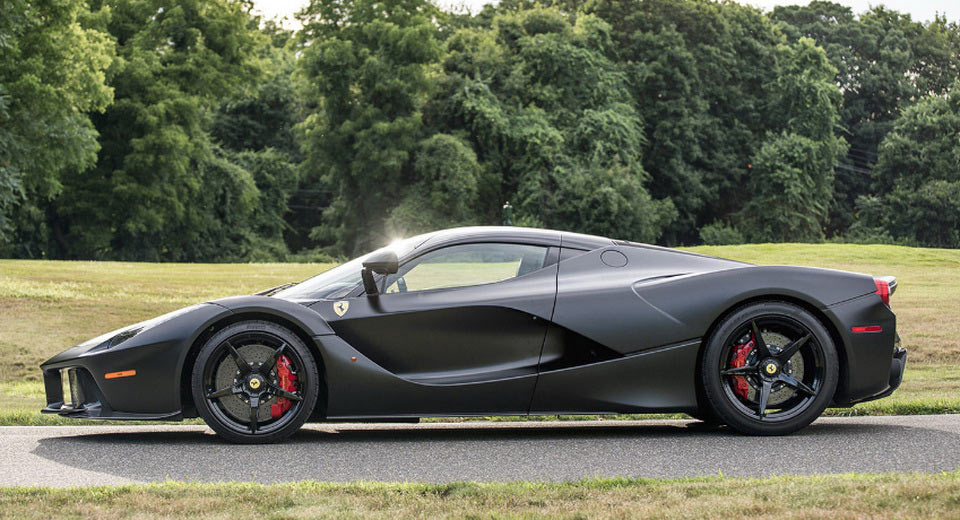Satin Black LaFerrari Off To Auction, Interested Parties Should Bring Over 4 Million