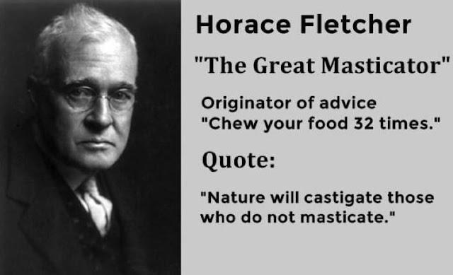 مضغ الغذاء 32 مرة بحسب مبدأ هوراس فليتشر