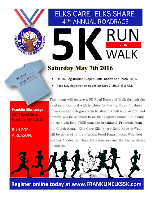 Elks Care Elks Share 5K - May 7, 9:00 AM
