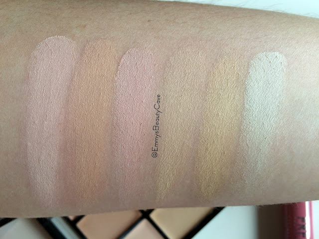 Freedom Concealer Palette swatches
