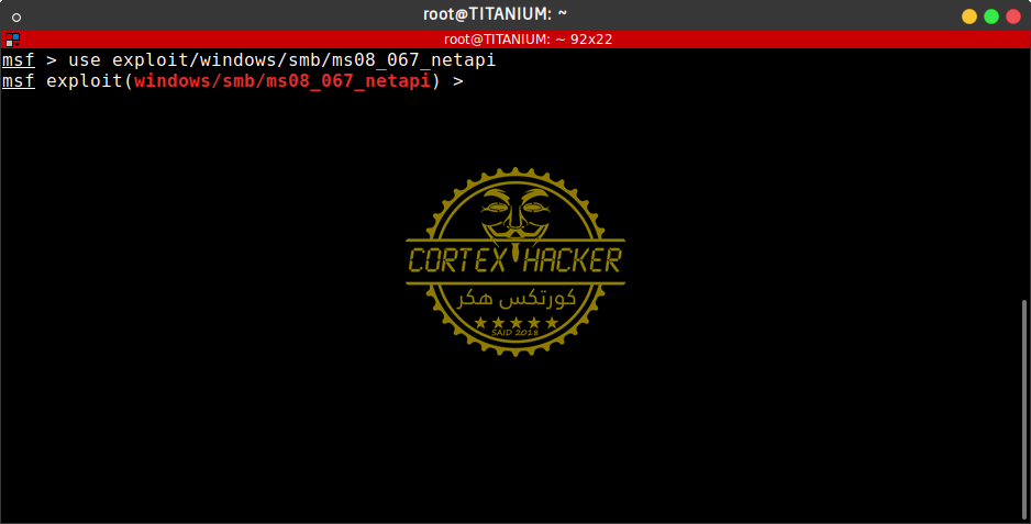 use exploit/windows/smb/ms08_067_netapi