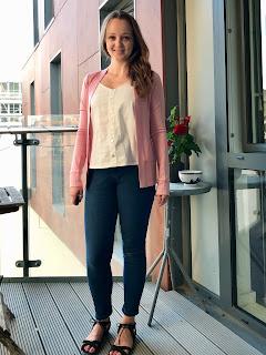 Rose Pink Merino Blackwood Cardigan
