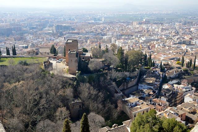 Granada widok z Alhambry