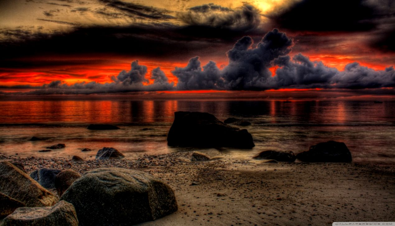 Dramatic Breathtaking Sunset Merger Wallpapers