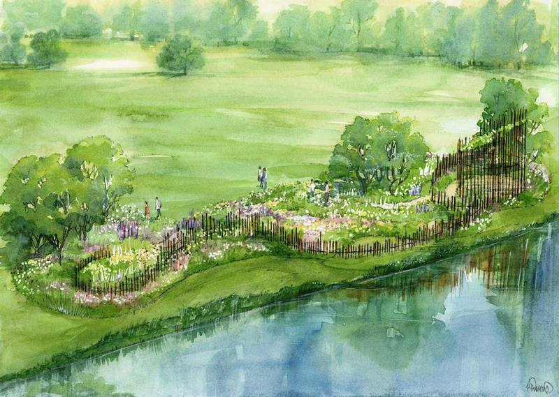 Proyecto de jardín de Jo Thompson para Chatsworth Flower Show 2017
