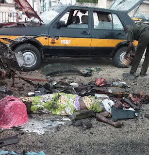 BREAKING: Many feared killed as bomb-blast hit Muna Garage in Maiduguri; See Photos