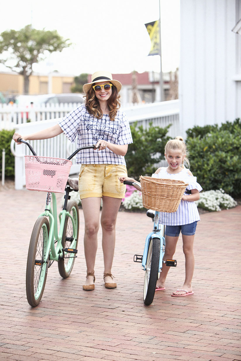 Amy West in gingham top by Anthropologie