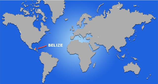Gambar Peta letak negara Belize