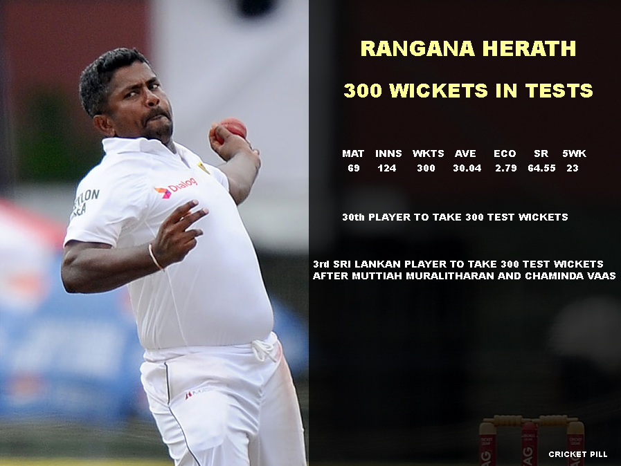 Rangana Herath 300 wickets in Tests