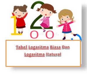 Tabel Logaritma Biasa Dan Logaritma Natural