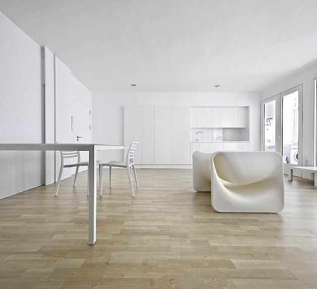 Low Price Studio Apartments: Small Minimal Apartment Design In White