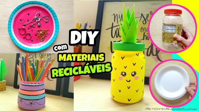 diy com material reciclavel