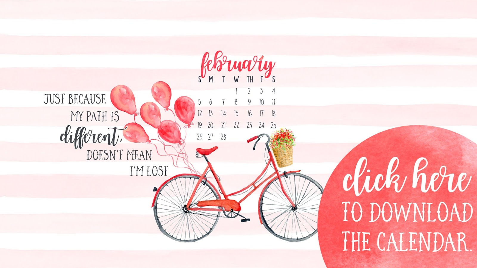 February 2017 Desktop Calendar Free Download • I Teach. What's Your Superpower?