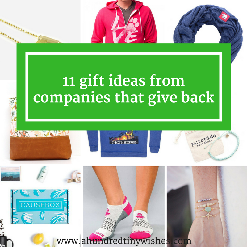 Christmas Gift Guide | 11 companies that give back