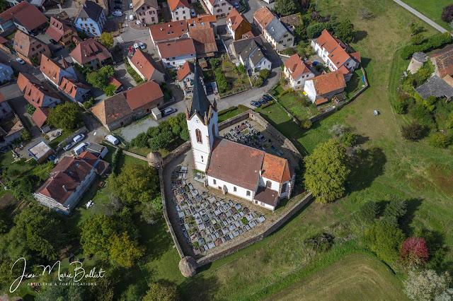 Cimetière fortifié d'Hartmannswiller — Vue du sud-est