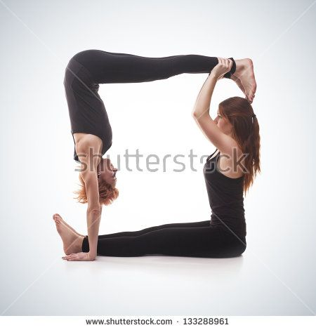 Two Person Yoga Challenge Poses