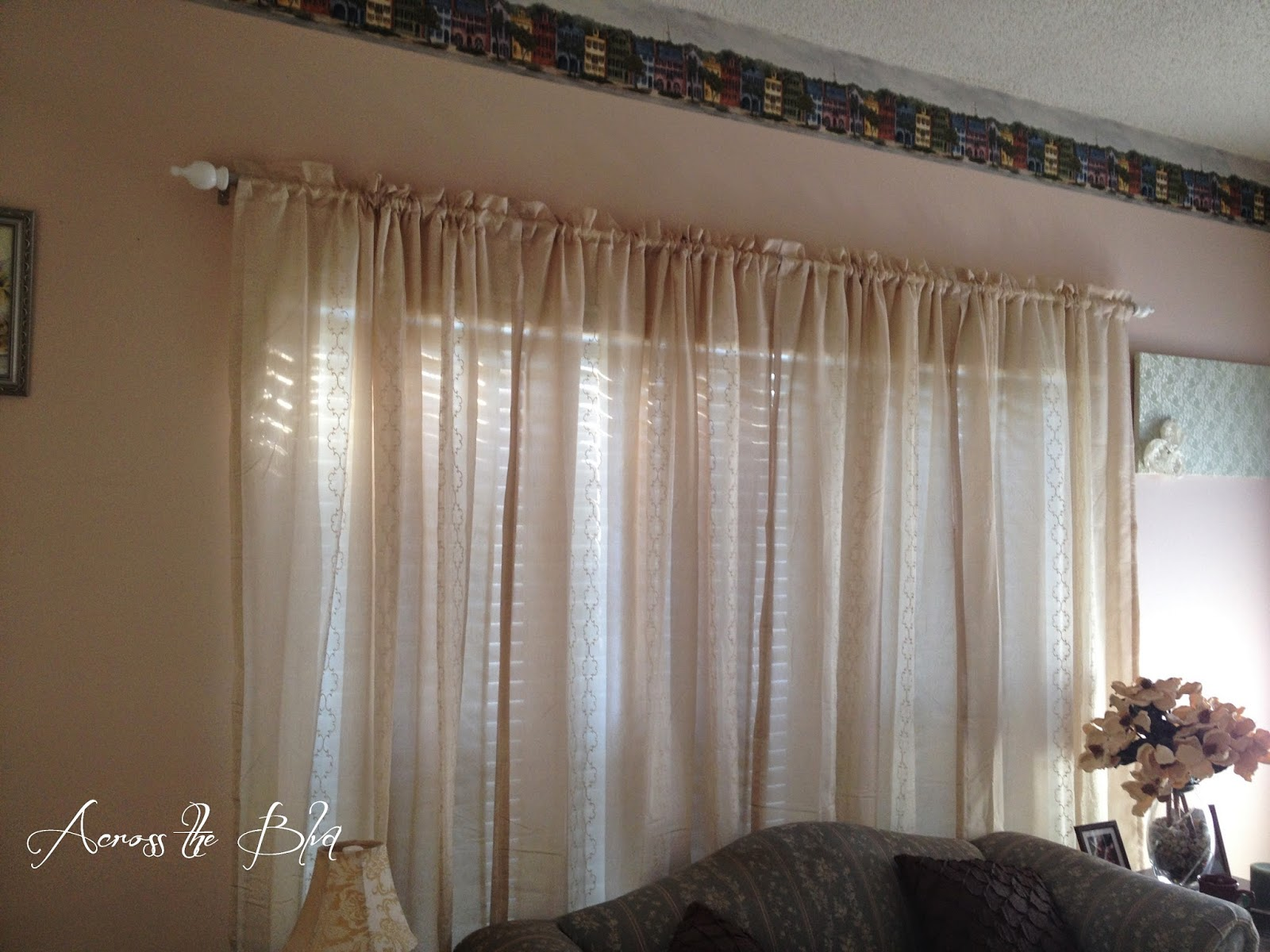 Across the Boulevard DIY Curtain Rods for Large Windows