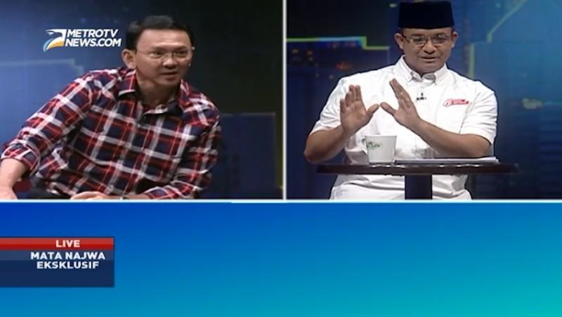 Ahok dan Anies berdebat di Mata Najwa